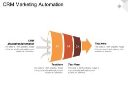 CRM Marketing Automation Ppt Powerpoint Presentation Gallery Backgrounds Cpb