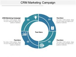 CRM Marketing Campaign Ppt Powerpoint Presentation Outline Slides Cpb