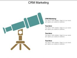 CRM Marketing Ppt Powerpoint Presentation Outline Styles Cpb