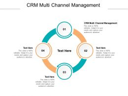 CRM Multi Channel Management Ppt Powerpoint Presentation File Graphics Pictures Cpb