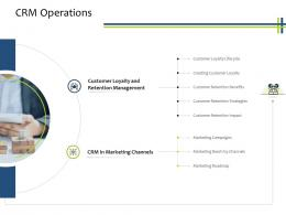 CRM Operations CRM Process Ppt Powerpoint Presentation Ideas Gallery