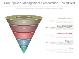 Crm Pipeline Management Presentation Powerpoint