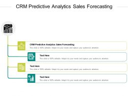 CRM Predictive Analytics Sales Forecasting Ppt Powerpoint Presentation Icon Guide Cpb