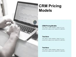 CRM Pricing Models Ppt Powerpoint Presentation Portfolio Designs Cpb