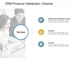 CRM Producer Distribution Channel Ppt Powerpoint Presentation Styles Gridlines Cpb