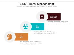 CRM Project Management Ppt Powerpoint Presentation Infographic Template Information Cpb