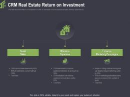 CRM Real Estate Return On Investment Reduce Ppt Powerpoint Gallery Example