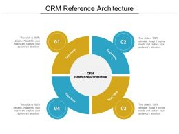 CRM Reference Architecture Ppt Powerpoint Presentation Summary Gridlines Cpb