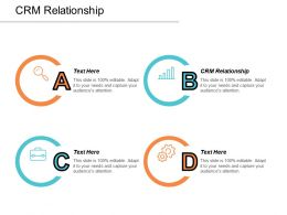 CRM Relationship Ppt Powerpoint Presentation Infographics Background Images Cpb