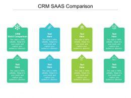 CRM SAAS Comparison Ppt Powerpoint Presentation Model Files Cpb