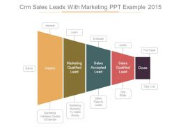 Crm Sales Leads With Marketing Ppt Example 2015