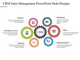 Crm Sales Management Powerpoint Slide Designs