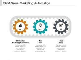 CRM Sales Marketing Automation Ppt Powerpoint Presentation File Ideas Cpb