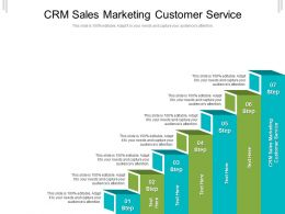CRM Sales Marketing Customer Service Ppt Powerpoint Presentation Model Background Cpb