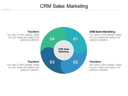 CRM Sales Marketing Ppt Powerpoint Presentation Infographic Template Cpb