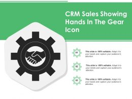 Crm Sales Showing Hands In The Gear Icon