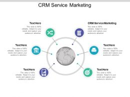 CRM Service Marketing Ppt Powerpoint Presentation Professional Examples Cpb