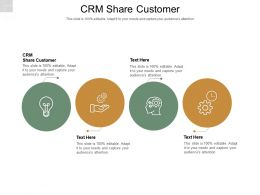 CRM Share Customer Ppt Powerpoint Presentation Infographics Information Cpb