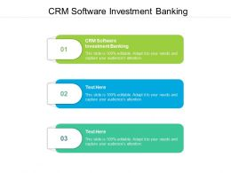 CRM Software Investment Banking Ppt Powerpoint Presentation Portfolio Guide Cpb
