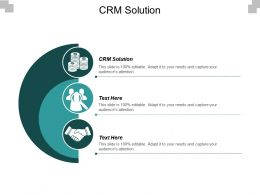 CRM Solution Ppt Powerpoint Presentation Icon Pictures Cpb