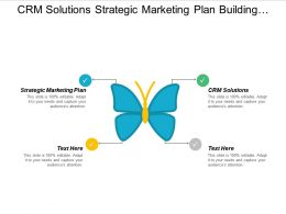 Crm Solutions Strategic Marketing Plan Building Maintaining Relationship