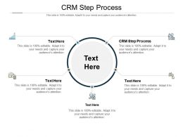 CRM Step Process Ppt Powerpoint Presentation Slides Graphics Download Cpb