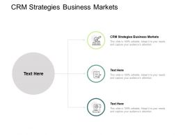 CRM Strategies Business Markets Ppt Powerpoint Presentation Pictures Template Cpb