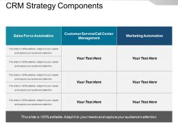 Crm Strategy Components Presentation Examples