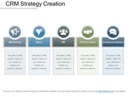Crm Strategy Creation Presentation Graphics