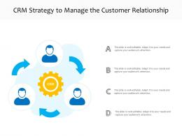 CRM Strategy To Manage The Customer Relationship