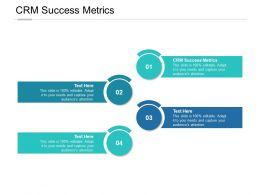 CRM Success Metrics Ppt Powerpoint Presentation Inspiration Demonstration Cpb