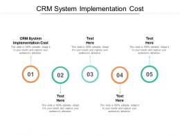 CRM System Implementation Cost Ppt Powerpoint Presentation Layouts Templates Cpb