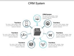 CRM System Ppt Powerpoint Presentation Pictures Backgrounds Cpb