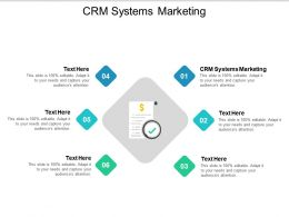 CRM Systems Marketing Ppt Powerpoint Presentation Ideas Format Cpb