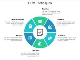 CRM Techniques Ppt Powerpoint Presentation Gallery Brochure Cpb