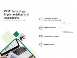 CRM Technology Implementation And Applications Client Relationship Management Ppt Grid