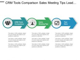 Crm Tools Comparison Sales Meeting Tips Lead Marketing Sales Ppt Cpb