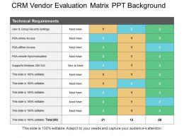 crm_vendor_evaluation_matrix_ppt_background_Slide01