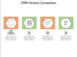 CRM Vendors Comparison Ppt Powerpoint Presentation Designs Cpb