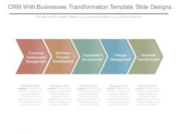 Crm With Businesses Transformation Template Slide Designs