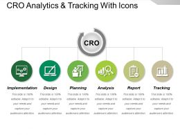 Cro Analytics And Tracking With Icons