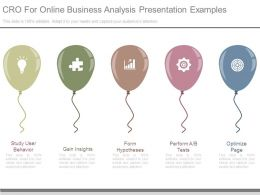 Cro For Online Business Analysis Presentation Examples