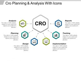 Cro Planning And Analysis With Icons