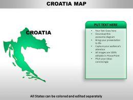 Croatia Country Powerpoint Maps