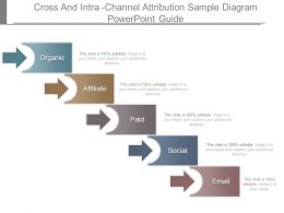 Cross And Intra Channel Attribution Sample Diagram Powerpoint Guide