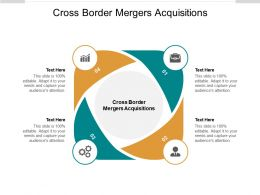 Cross Border Mergers Acquisitions Ppt Powerpoint Pictures Layout Ideas Cpb