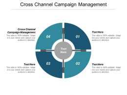 Cross Channel Campaign Management Ppt Powerpoint Presentation Gallery Visuals Cpb