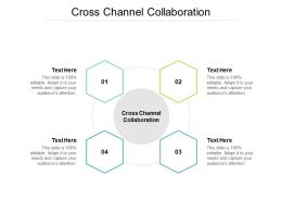 Cross Channel Collaboration Ppt Powerpoint Presentation Infographics Icons Cpb