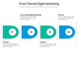 Cross Channel Digital Advertising Ppt Powerpoint Presentation Professional Templates Cpb