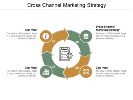 Cross Channel Marketing Strategy Ppt Powerpoint Presentation File Images Cpb